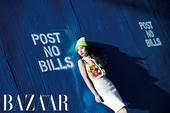 搜狐韩娱讯 韩国女团f(x)成员krystal日前公开了一组在美国纽约拍摄的写真,以另类多彩的嘻哈造...