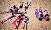 当地时间5月26日,西班牙圣塞巴斯蒂安,民众在孔查海滩晒日光浴。