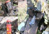6月17日,山东沂水SW-4直升机残骸在失事现场尚未清理。据悉,本月15日早7时10分左右,新疆天翼...