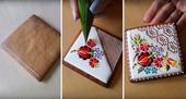 美食不仅仅能满足你味觉的狂欢,同时也是让你有视觉的享受。有这么一款饼干,如同精致的刺绣,你舍得吃下它...