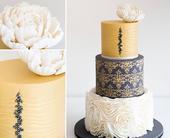 2015年流行类似新娘婚纱的蛋糕,上面装饰有褶皱、蕾丝和小珠饰。这种蛋糕的设计灵感来源于新娘婚纱礼服...