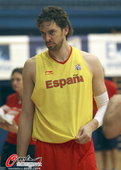 2012年7月9日,2012年奥运会前瞻,西班牙篮球队训练备战。