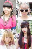 """日本潮人的造型一贯另类""""惊人"""",除了服饰搭配上层次多、够花哨之外,她们的头发造型也是吸睛点之..."""