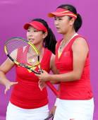 北京时间8月3日凌晨,2012年伦敦奥运会网球项目结束了一场女双1/4决赛的补赛,首日比赛中以5-7...