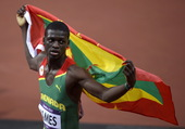 """北京时间8月7日凌晨,2012伦敦奥运会田径比赛在""""伦敦碗""""奥林匹克体育场结束男子400米争夺。大邱..."""