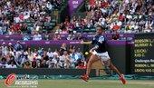 2012年8月4日,2012年伦敦奥运会网球混双1/4决赛,罗布森/穆雷2:1胜斯托苏尔/休伊特。...
