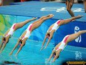 2012伦敦奥运会即将开幕,让我们一起回忆一下2008年北京奥运会那些美丽瞬间。图为中国花样游...