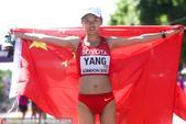 2017年8月13日,2017年田径世锦赛女子20公里竞走,21岁的杨家玉1:26:19在最后的直道...