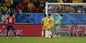 北京时间2014年6月14日6时,2014年巴西世界杯B组第一轮的第2场比赛在库亚巴的潘塔纳尔竞技场...