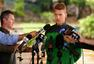 高清图:澳大利亚昂首离开巴西 召开媒体见面会