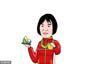 漫画:中国第九金!女举69KG向艳梅萌萌领奖图