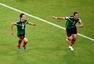 高清图:墨西哥胜克罗地亚 小豌豆破门怒吼庆祝