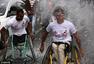 加沙举办轮椅马拉松 因战争残疾巴勒斯坦人参加