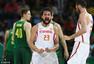 高清图:西班牙男篮狂胜立陶宛 加索尔力劈华山