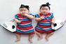 新加坡双胞胎萌照走红网络