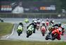 高清图:2017泛珠春季赛首日 摩托车手弯道角逐