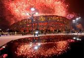 2008年8月24日,北京奥运会闭幕式,绚丽烟花点亮北京夜空。 Osports/图