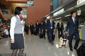 2010年7月1日,日本大阪,刚刚结束世界杯征程的日本男足返回国内。