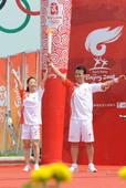 2008年7月11日,北京奥运圣火在哈尔滨传递。