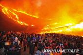 韩国元宵庆典酿火灾踩踏惨剧