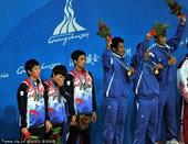北京时间11月27日上午,在男子藤球双人决赛中,缅甸队2-0击败韩国队,获得金牌,两盘比分为21-1...