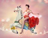 阿朵惊艳圣诞组图曝光-潮流女王演绎童话仙境