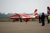 在第七届珠海航展上表演的印度空军Kiran MK2型教练机,