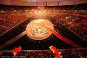 北京时间10月28日,中华人民共和国第十一届运动会闭幕式在山东省济南市奥体中心体育馆进行,图为精彩的...