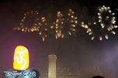 8月24日,天安门广场举行北京奥运会闭幕式烟火表演。搜狐体育 韩大海摄。