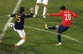 2010年6月25日,南非比勒陀利亚,2010世界杯H组末轮,西班牙VS智利。46分钟桑切斯横传,米...