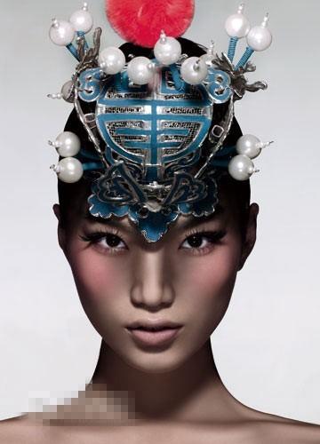 组图 中国红妆挑战视觉极限